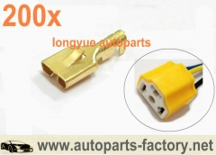 200pcs GM vehicle connector terminals for H1 H4 headlight socket relay conector bulb holder