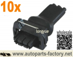 longyue 10pcs CONECTOR 3 VIAS HALL for VW/FIAT for ETE7791 3VIA/SISTHAL rubber boot