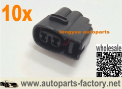 longyue 10pcs 2 Pin 1JZ 2JZ 1UZ 4AG 3SG RX7 Ignition Coil Connector Kit Black
