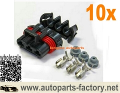 longyue 10kit 3 Position Metri-Pack 630 VHD Female Connector Coolant Fan Splice Engine Side - 86/87
