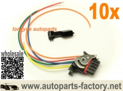 longyue 10pcs OE Plugs- 5-Pin Oval Plug Harness For Bosch Type Alternators 8""