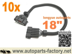 longyue 10pcs MAF Sensor Extension Harness - DENSO MAF Sensor 18