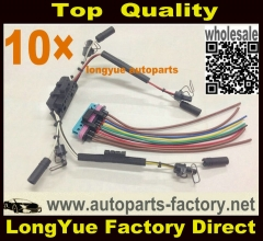 longyue 10set 97-03 Powerstroke 7.3 7.3L Ford Under Valve Cover Fuel Injector VC Glow Plug Harness