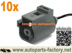 longyue 10pcs Flat Contact Housing Plug Pigtail1 pin For Oil Presure Switch 1J0 973 081 1J0973081 8""