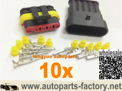 longyue 5 Way 10 kit set 5pin modo impermeabile filo elettrico connecttore