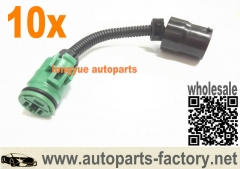 longyue 10pcs Round Female Plug To Round Male Plug Nippon Denso Alternator Connector Extension 6""