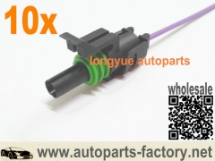 longyue 10pcs GM Coolant Temp Sensor Harness Connector harness