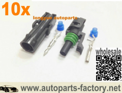 longyue 10 Kit 1 Pin WeatherPack Sealed Wiring Connector Kit o2 sensor conector NEW