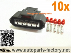 longyue 10set 5 Pin Female MAF sensor connector Mass Air Flow Engine Plug Fit Toyota Lexus is3