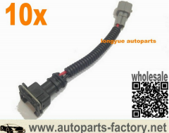 longyue 10pcs ev1/obd1 fuel injector wiring harness for toyota style plug and play adapters 6""