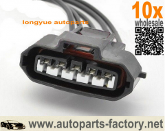 longyue 10pcs 5 Pin MAF sensor connector plug Mass Air Flow Engine pigtail For Toyota Lexus 8""