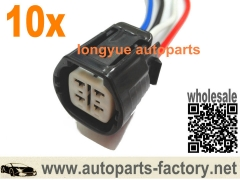 longyue 10pcs Alternator Repair Plug Harness Connector 4-way Pigtail For Nissan Nippon Denso 8""