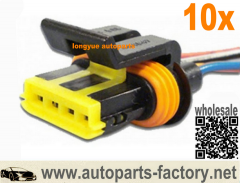 longyue 10pcs Connector 4-way Line Injection Actuator For GM VW Fiat ETE7742 TC1016 CIS742 6""