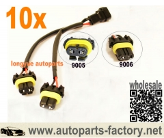 longyue 10pcs 9005/9006 High Beam Splitter Wires For Quad/Dual Projector Headlights Retrofit 12""