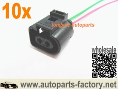 longyue 10pcs 98-05 Fog Light Plug Pigtail Audi A4 A6 VW Passat Beetle Connector 1J0973722 OEM 6""