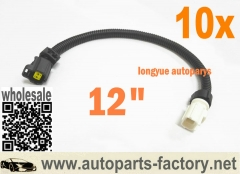 10pcs 99-08 Chrysler Cirrus Dodge Ram Jeep Wrangler Vehicles - Air Temp Sensor Extension Harness 12""