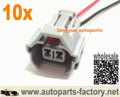 10pcs NSO Nippon Denso Fuel Injector Connector Pigtail For Toyota Sard Tomei Blitz HKS Helix