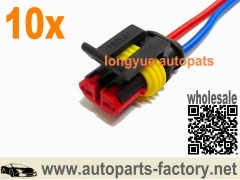 longyue 10pcs GM Connector Fit Coolant Sensor Washer Fuel Pump Coil Headlight PT1780 88988136 8""