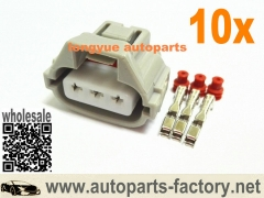longyue 10set 3pin toyota female electrical connector kit