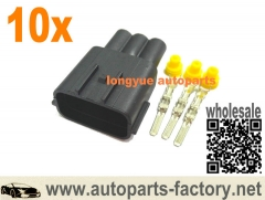 longyue 10set Mazda Nissan 3-pin Male Coil Plug Connector RB25 Series 2 & SR20 complete kit