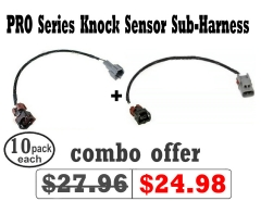 PRO Series Knock Sensor Sub-Harness SR20DET S14/S15 & S13/S14 KA24DE (pack of 10 each)