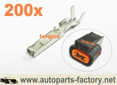 longyue 200pcs terminals for Light Lamp Bulb Socket Holder for Auto Van Car Truck top quality