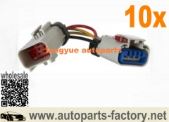 longyue 10pcs Dodge Van Pickup Truck Dakota Fuel Pump Wiring Harness Aftermarket Replacement Gray 4""
