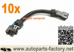 longyue 10pcs LQ4, LQ9 4.8 5.3 6.0 Delphi Injectors to LS1 LS6 LT1 EV1 wire Harness Adapters 6""