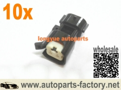 10pcs EV14 female/Sumitomo male, Fuel Injector Electrical Connector Adapter Nippon Denso Type