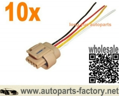 longyue 10pcs Isuzu Daewoo Nubira Aveo Opel Ignition Coil Connector Harness 96350585 8""