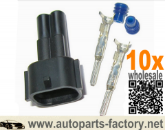 longyue 10kit Nippon Denso NipponDenso (ND-CON-1-SET, Sumitomo) male type injector connector kit