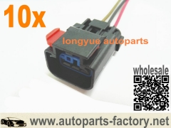 longyue 10pcs 3 way Repair Connector Pigtail Fit MoPar Crank Cam Crankshaft Sensor,Ignition Coil 6""