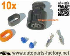 longyue 10kit Skoda Vag 357973202 or 6N0 927 997 Connector Plugs For VW Audi Webasto Thermo Top Heater 2 Pin Plug