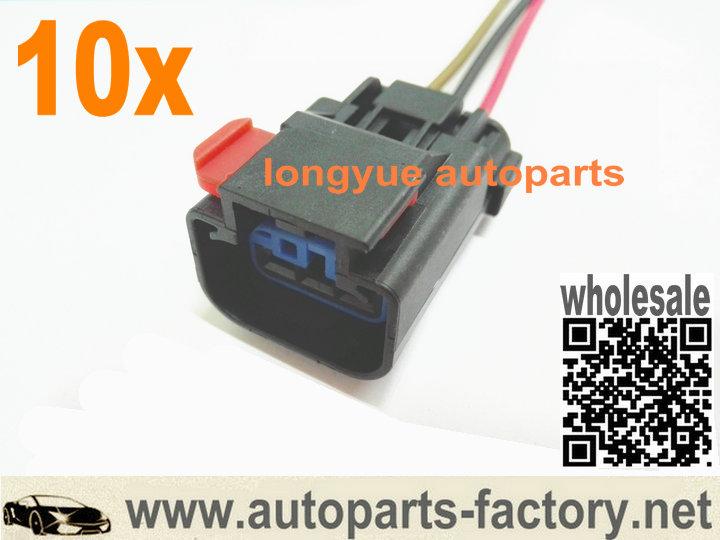 Longyue 10pcs Speed Sensor Vss 3 Terminal  U0026 Pigtail