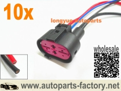 longyue 10pcs 99-05 VW Jetta Golf Beetle Cooling Fan Module Pigtail Plug Connector 1J0906234 8""