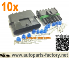 Longyue 10 Kit 6 Pin Weather Pack WeatherPack Sealed Wiring Connector Kit O2 sensor conector