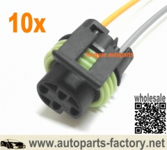 longyue 10pcs 87-88 Camaro Firebird 2 Wire Oil Pressure Switch Connector Pigtail Wiring TPI GM 12""