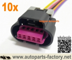 longyue 10pcs GM 5 Wire MAF Sensor Wiring Connector Pigtail Corvette LS1 LS2 LS6 GM Mass Air Flow 12""