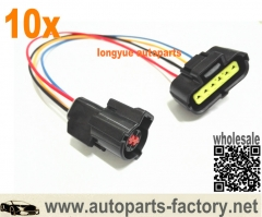 longyue 10pcs 99-02 Ford F150 Expedition Mass Air Flow MAF Wirng Connector Harness  4.2L /4.6L/5.4L 12""