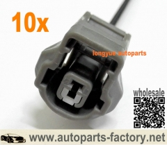 longyue 10pcs 1 way Toyota/Lexus Engine Knock Sensor Wiring Connector Pigtail – 1UZ, 1JZ, 2JZ, 3S-GE etc 12