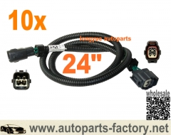 longyue 10pcs 4 pin Toyota Oxygen O2 Sensor Extension Harness 24""