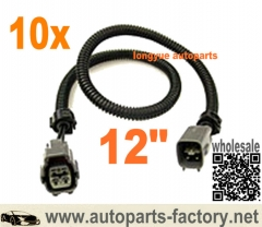 longyue 10pcs 4 pin Toyota Oxygen O2 Sensor Extension Harness 12""