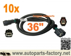 longyue 10pcs 4 pin Toyota Oxygen O2 Sensor Extension Harness 36""