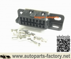 longyue 10set 16 Pin Female OBDII - OBD2 Diagnostic Connectors ALDL Data Link DLC Delphi Repair Kit Include Terminals