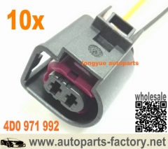 longyue 10pcs Audi A4 / VW Seat Skoda Wiring Loom Connector Plug Harness Repair 4D0 971 992 4D0971992 8""