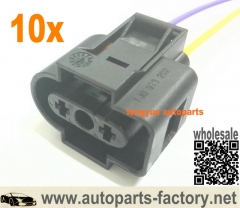 longyue 10pcs Washer Fluid Sensor Connector Pigtail VW Jetta Golf Rabbit MK4 MK5 Passat B6 - 1J0 973 202 8""