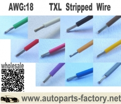 "longyue 10pcs 12"" inch 18 Gauge AWG TXL Wire Automotive Loom - Copper - Solid Color - Custom length"