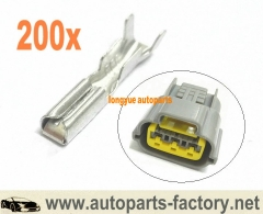 longyue 200pcs terminals for Nissan Ignition Coil Connector Plug Harness Skyline sr20 rb20 rb25 rb26
