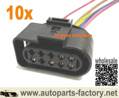 longyue 10pcs 6 wire Headlight Head Lamp Wiring Pigtail Plug 01-05 VW Passat Connector - 1J0 973 735 8""