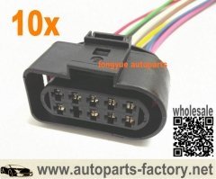 longyue 10pcs Electrical Plug RH For Audi A6 C5 3.0 2003 VW,Seat, Skoda 1J0973735 1J0 973 735